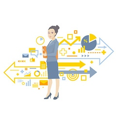 portrait of a woman manager keeps a folder w vector image