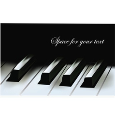 Realistic piano keys vector