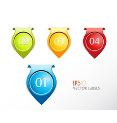 Set of badges with numbering vector image vector image