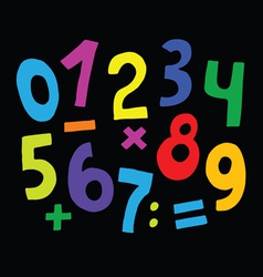set of color numbers vector image vector image