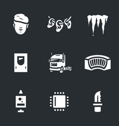Set of cryogenic soldier icons vector
