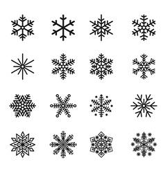 Snowflake Icons Silhouette vector image