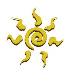 spiral sun icon vector image