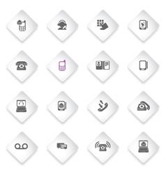 Telephone icon set vector