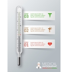 thermometer for infographics vector image