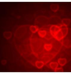 Valentine Bokeh vector image