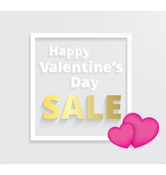 Valentines day promotion sale vector image