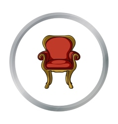 Wing-back chair icon in cartoon style isolated on vector image vector image