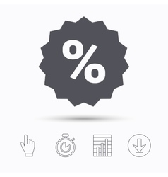 Discount icon sale offer star sign vector