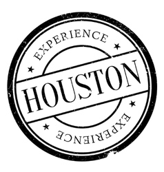 Houston stamp rubber grunge vector