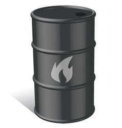 Oil and gas tank vector