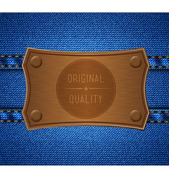Jeans label vector
