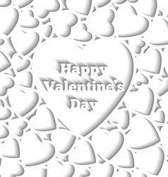 Happy valentines day card template hearts on the vector