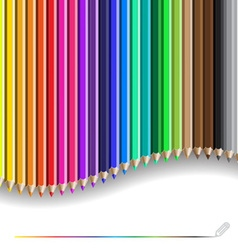 Color pencil pattern vector