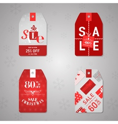 Christmas sale labels and tags vector