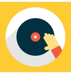 Hand Scratching Vinyl Record vector image