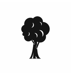 Tree icon in simple style vector image