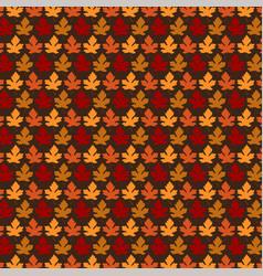 autumn leaf pattern vector image vector image