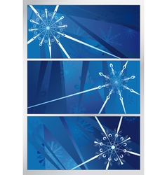 blue snowy pattern three backgrounds vector image vector image
