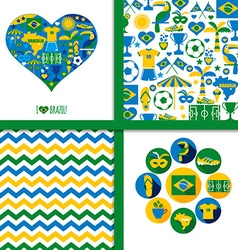 Brazil background set vector