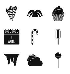 children adventures icons set simple style vector image vector image
