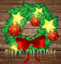 Christmas decorative wreath vector image