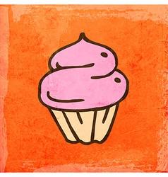 Cupcake Cartoon vector image vector image