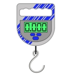 Digital portable weighing scale vector