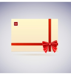 Envelope with bow gift vector image vector image