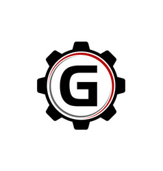 Gear solution logo letter g vector