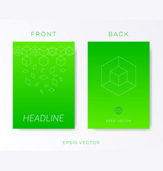 Green minimalist brochure design vector