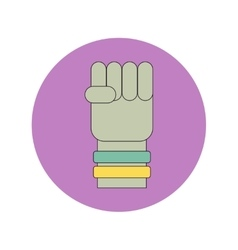In flat design of hand with vector