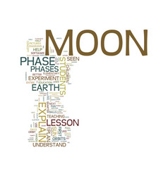 Moon phase lesson plan for elementary age vector