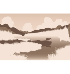 River deer vector