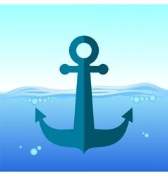 Sea Metal Anchor vector image
