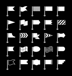 Set icons of flags vector image vector image