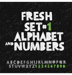 Set of hand drawing alphabet and numbers vector image vector image