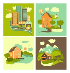 Set of homes vector