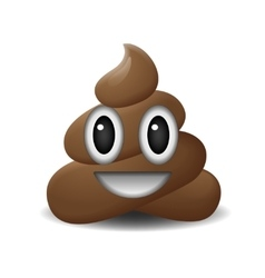 Shit icon smiling face symbol emoji vector