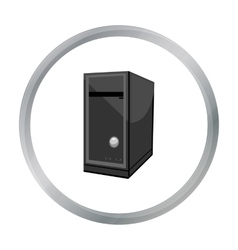 System unit icon in cartoon style isolated on vector image vector image