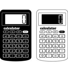 the financial calculator vector image vector image