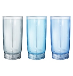 Three opaque glass for juice vector