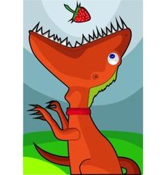 veggie dinosaur vector image vector image