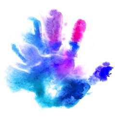 Watercolor hand print vector image vector image