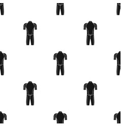 wetsuit icon in black style isolated on white vector image vector image