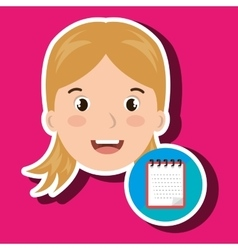 Student girl school icon vector