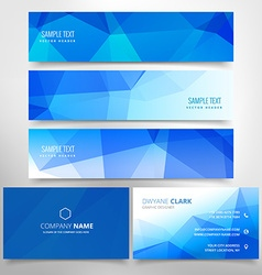 Low poly business stationary set vector