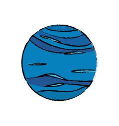 Planet neptune astronomy universe icon vector