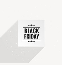 Clean black friday poster with long shadow vector