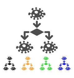 Epidemic growth scheme flat icon vector
